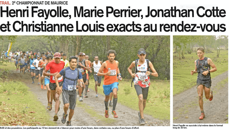 Henri Fayolle Mauritian Trail Running Championship Victory
